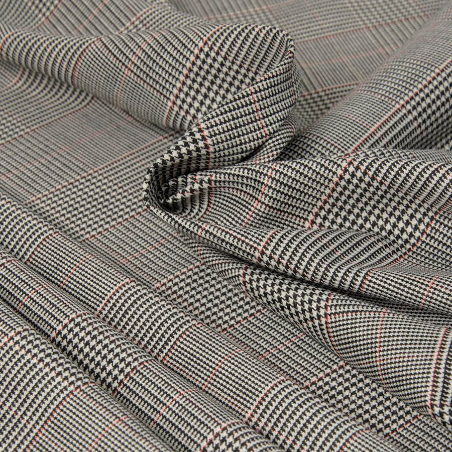Multicolored Prince of Wales Stretch Wool Check 166 - Fabrics4Fashion