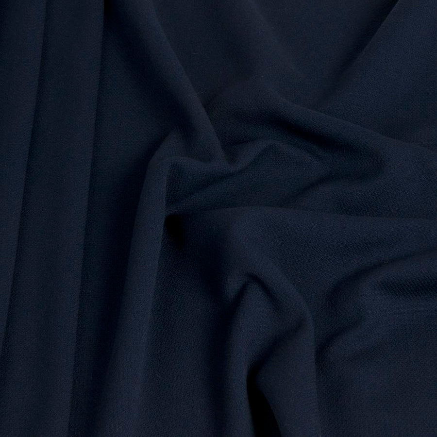 Navy Blue Crepe Wool 1449