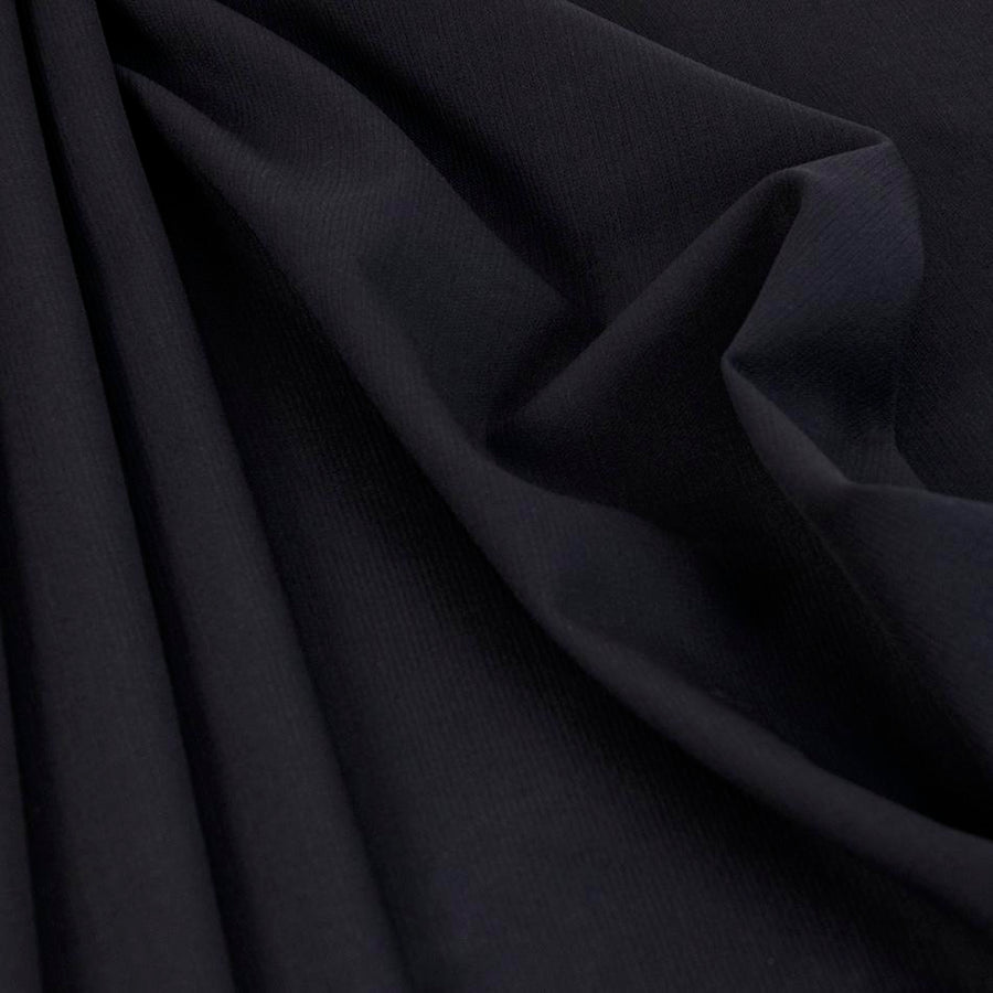 Navy Wool / Polyester Suiting Fabric 1509
