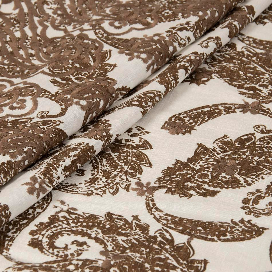 Embroidered Print Linen 5040 - Fabrics4Fashion