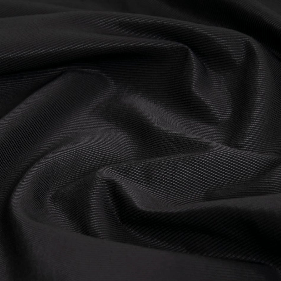 Shinny Black Cotton Twill 5259