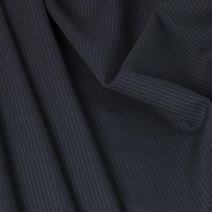 Suiting Navy Pinstripe Fabric 4642