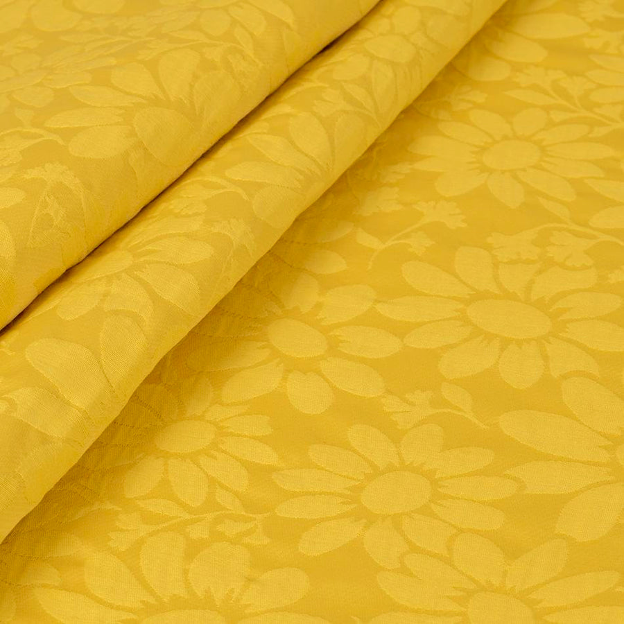 Yellow Floral Jacquard 2874