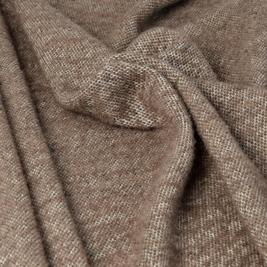 Taupe Mohair Wool Fablic 3305Woven