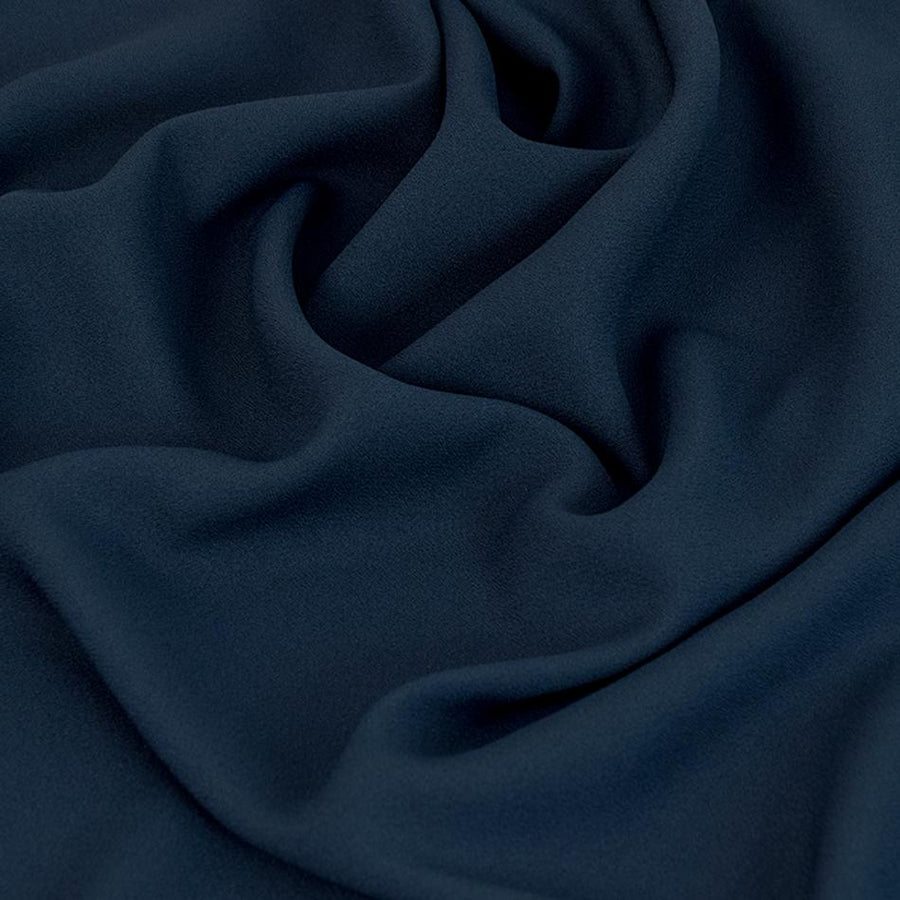 Navy Acetate / Viscose Crepe 2263Woven