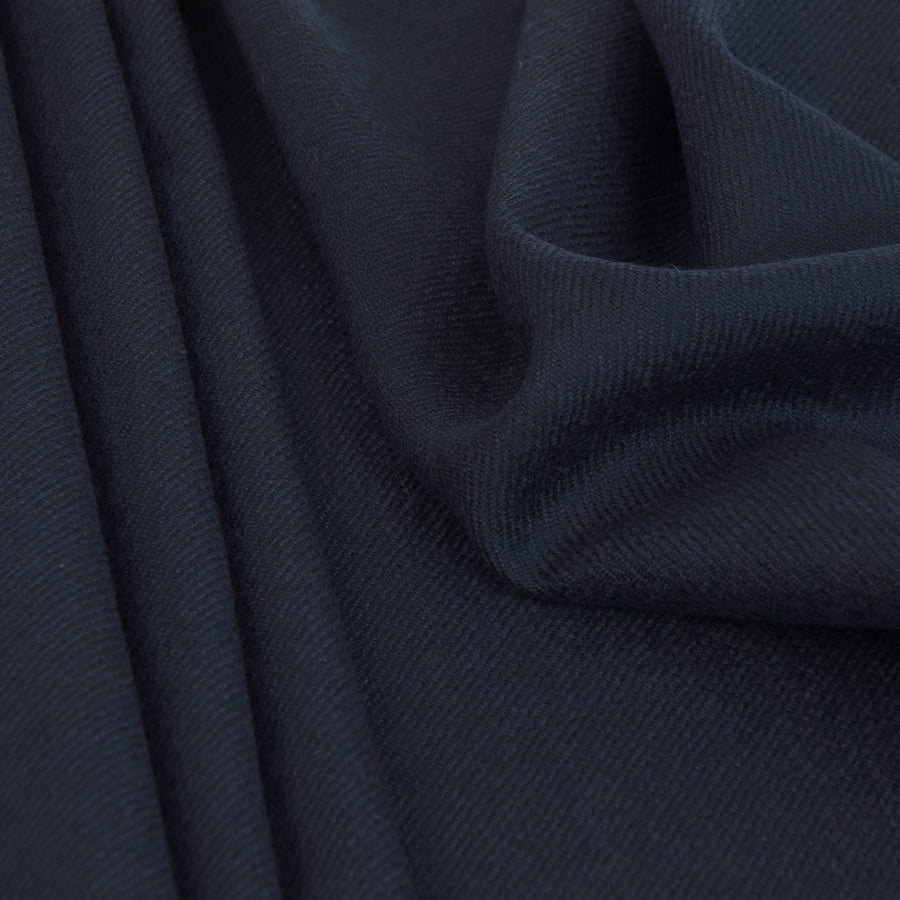 Navy Blue twill Wool 2570 - Fabrics4Fashion