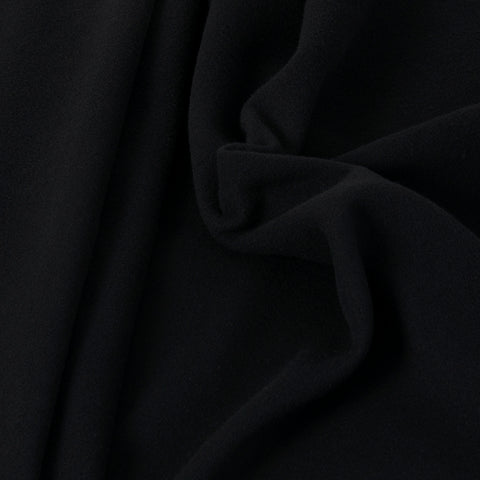 Black Coating Wool Fabric 252 - Fabrics4Fashion