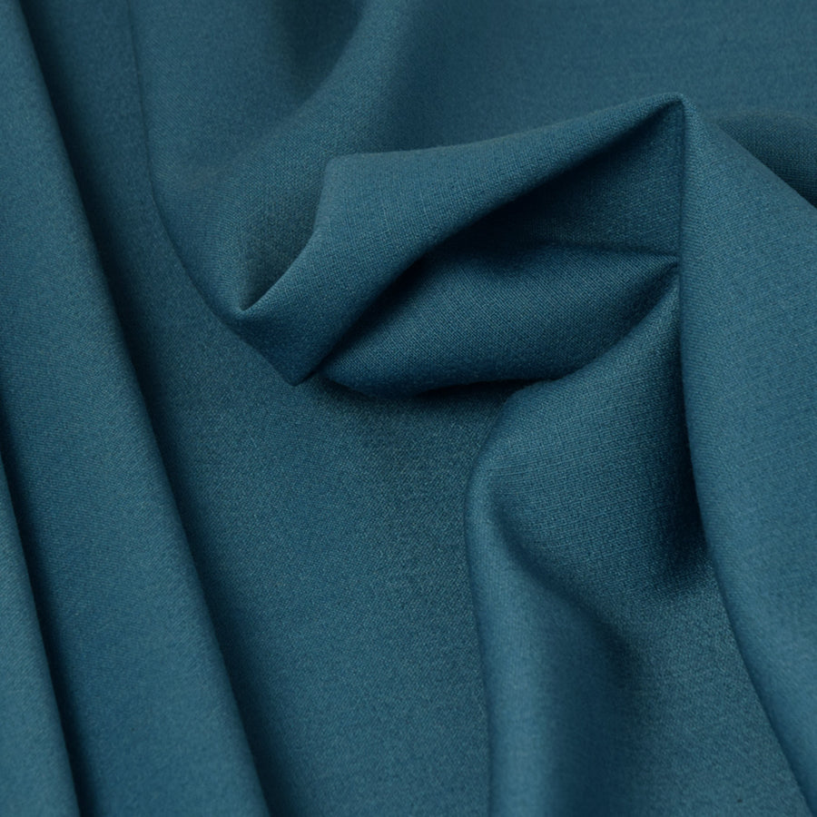 Peacock Blue Doublewave Stretch Fabric 3297 - Fabrics4Fashion
