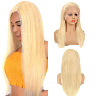 150% density honey blonde Indian 13x6 lace front wigs pre plucked - zsfwigs