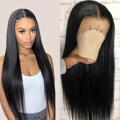 13x6 Brazilian human hair lace front wigs straight hair 150% density - zsfwigs