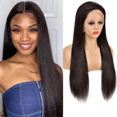 Malaysian 13x6 lace front wigs pre plucked 150% density - zsfwigs