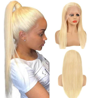 150% density 13x6 Brazilian 613 honey blonde lace front wigs - zsfwigs