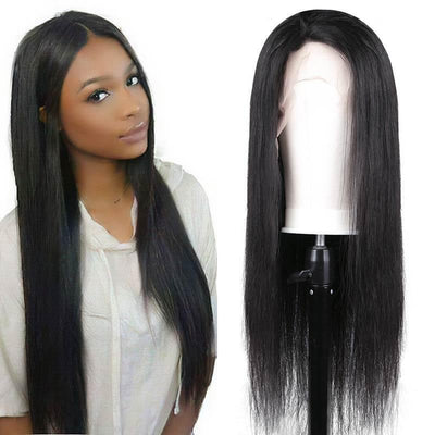 150% density Brazilian 13x6 lace front wig straight human hair free part - zsfwigs
