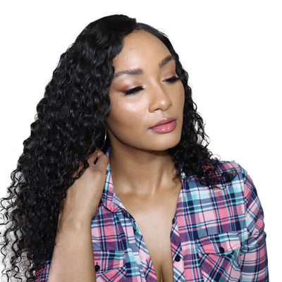 13x6 Deep wave Brazilian human hair lace front wigs 150% density