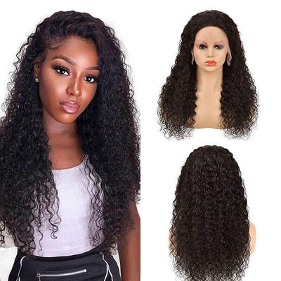 13x4 Brazilian curly human hair lace front wig 150% density - zsfwigs