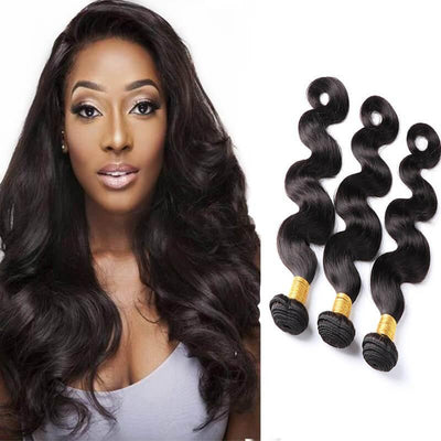3 budles/lot Brazilian remy human hair weaves body wave - zsfwigs