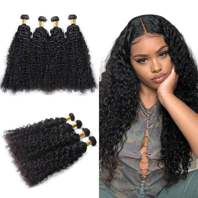 4pcs/lot Natural color Malaysian human hair bundles deep wave for sale - zsfwigs
