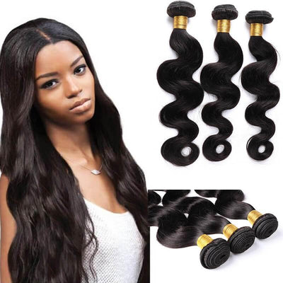 Body wave Malaysian human hair extensions 3pcs lot - zsfwigs