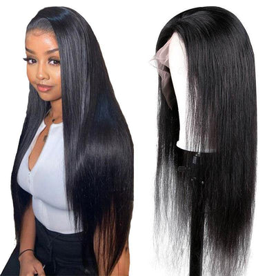 Brazilian pre plucked full lace wig human hair straight 150% density - zsfwigs