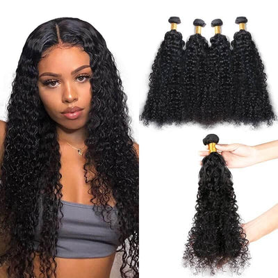 Grade 9A Brazilian human hair extensions deep wave 4 bundles/lot - zsfwigs