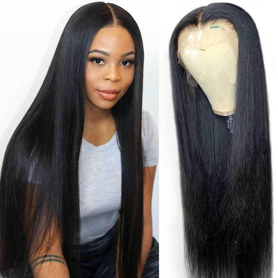 Affordable Indian 13x6 lace front wigs straight hair 150% density - zsfwigs