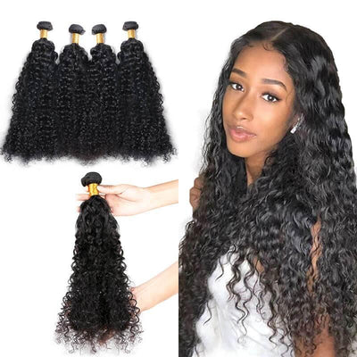Deep wave Indian remy human hair weave bundles 4pcs per lot - zsfwigs