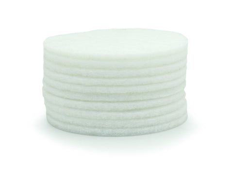 "6"" (150mm) White Beartex Polishing Discs - Pack of 10"