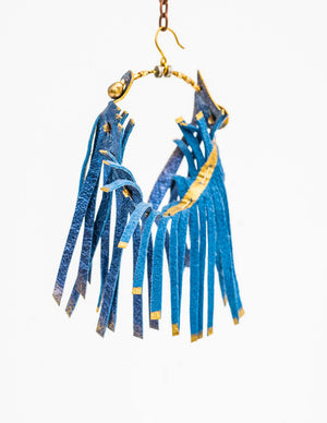 Blue Bird earring