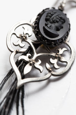 "Black Smoke ""Cameo"" earring"