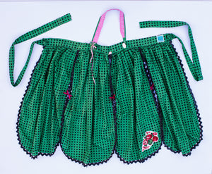 Green Petal / Apron Dress