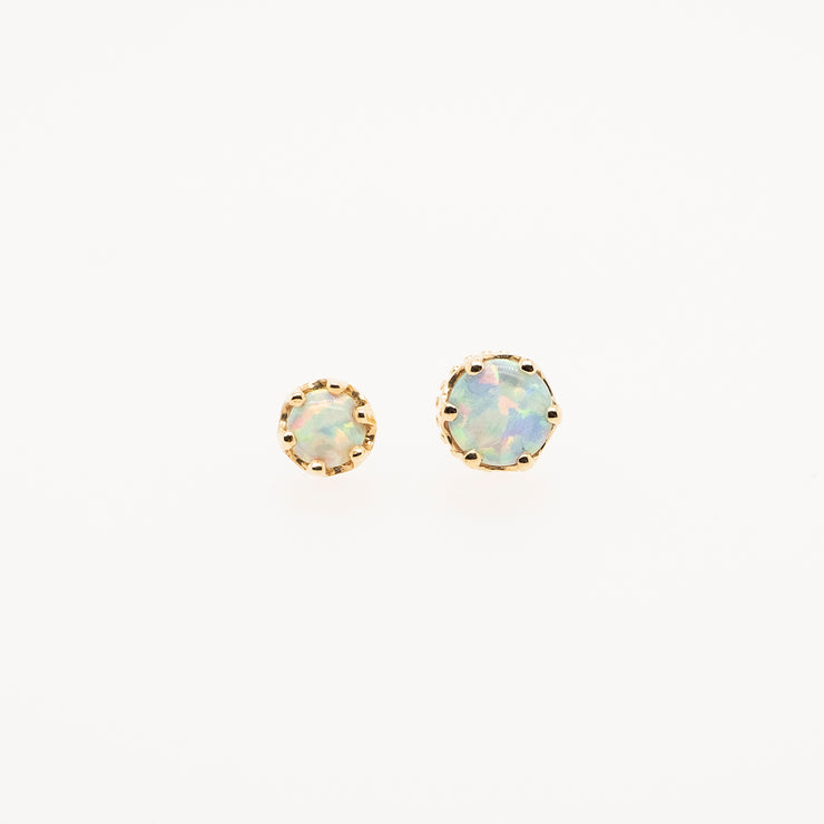 Crown Set Opal Threadless End