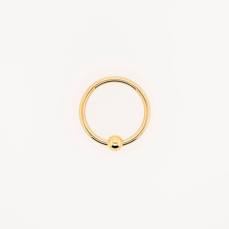 Gold Fixed Bead Ring
