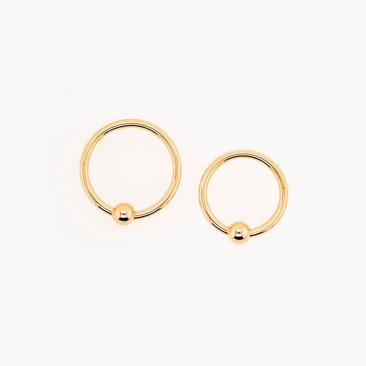 Gold Captive Bead Ring