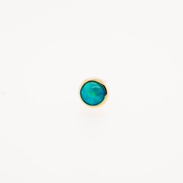Gold Threadless Cabochon Gem End