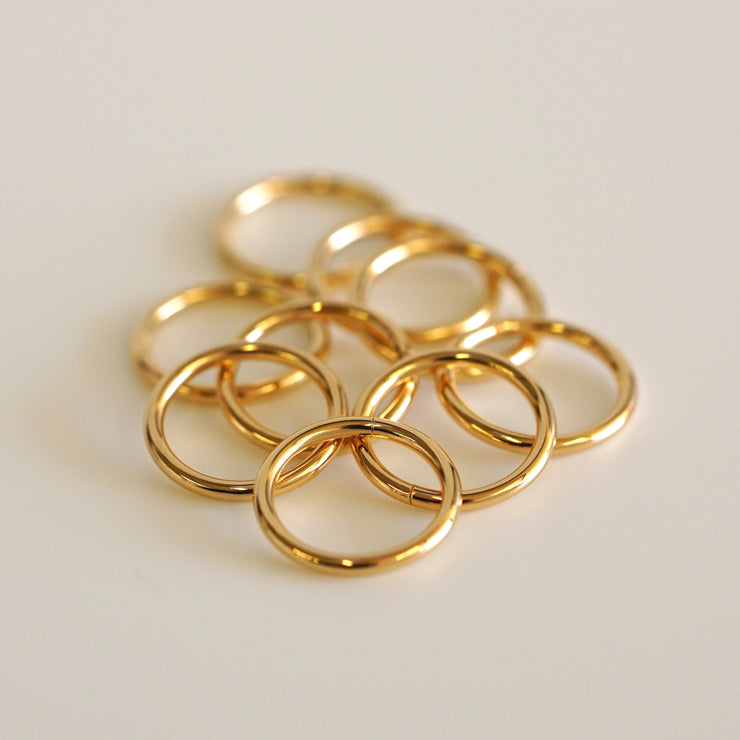 22k Gold Seamless Ring