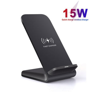 FDGAO 15W Qi Wireless Charger Stand For iPhone 11 Pro 8 X XS MAX XR Samsung S9 S10 Note 9 10 Fast Charging Holder Phone Charger