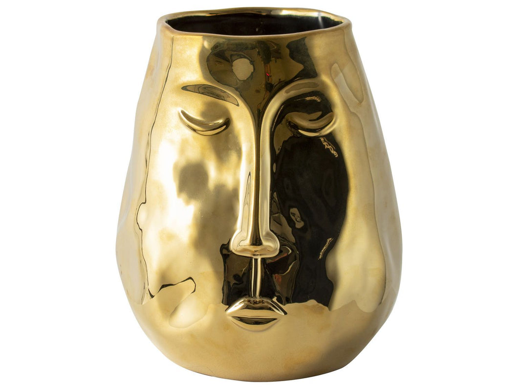 GOLDEN FACE VASE L