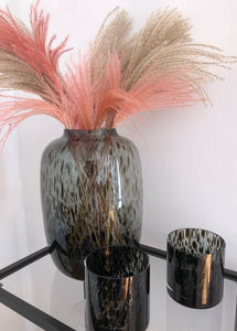 BLACK CHEETAH VASE