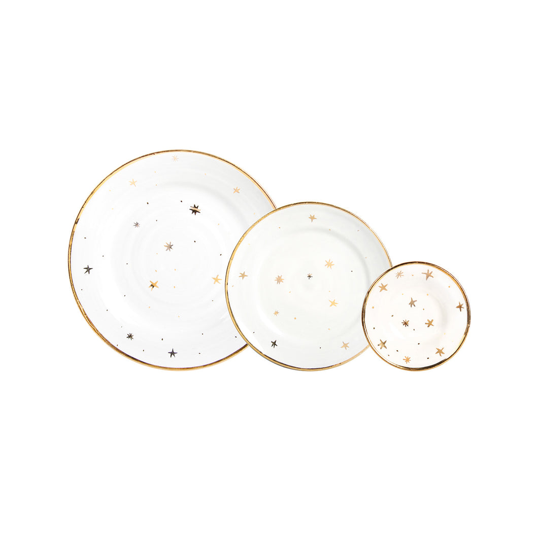 GOLDEN STARS PLATES | SET OF 3