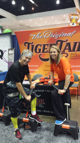 The Godfather of Fitness—Jack Lalanne Jr. with Tiger Tail Inventor Spring Faussett