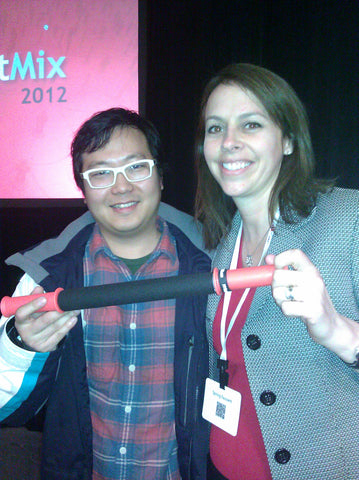 Cheezburger CEO Ben Huh with Tiger Tail Inventor Spring Faussett