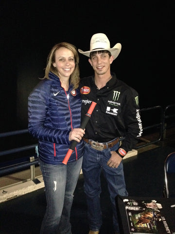 Pro Bull Rider J.B. Mauney with Tiger Tail Inventor Spring Faussett