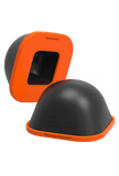 Image of Curve Ball; black foam dome; orange base; massage tool