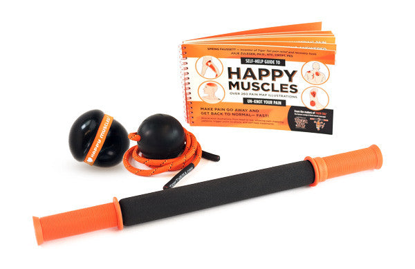 "TriggerPoint RX™   Happy Muscles® Kit with the Classic Tiger Tail (18"")"