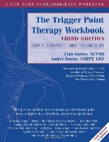 image of book; the trigger point therapy workbook third edition; blue cover