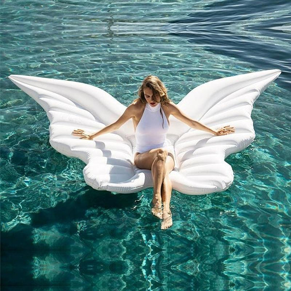 180cm Giant White Angel Wings Inflatable Pool Float