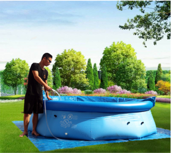 6ft x 20in Easy Set Swimming Pool with Air Pump