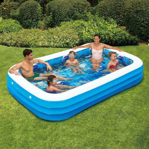 Deluxe Rectangle inflatable pool with Air  Pump