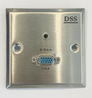 VGA+3.5mm Speaker Wall Plate