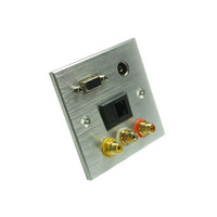 VGA+HDMI+3RCA +Network +3.5mm Wall Plate